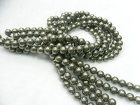 Wholesale Beads mm Pyrite Round Beads Gemstone Loose Beads quot per string