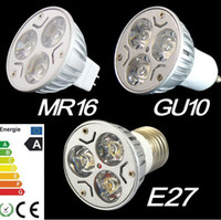Wholesale GU10 x3W W Warm White High Power LED Spot Light Bulb Candle Lamp SpotLight Down Light SMD