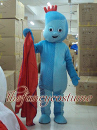 Wholesale adult size iggle piggle mascot costume character costume party outfit