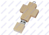 Wholesale Genuine gb gb gb Gift wooden cross usb flash drives memory sticks pen drives