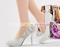 Wholesale 2012 Women s Waterproof Diamond Dazzling High Heels Shoes Wedding Bridal Dress shoes Gold Red Silver