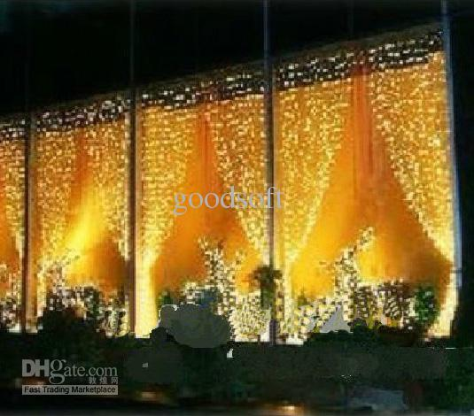 Curtains Ideas curtain lighting : Warm White Curtain Lights String Led Light String Hotel Decoration ...