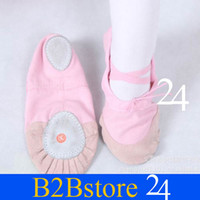 Wholesale J new of leather shoes children dance ballet shoes head canvas shoes acrobati
