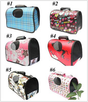 Wholesale 6 Colors Fashion Pet Dog Cat Carrier Travel Tote Bag Airline Size S M L V3444