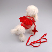 Wholesale Adjustable cute pet harness Angel wing soft pet dog leashes vest suit harness amp leashes S M L