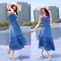 Wholesale Hot New Women s Sexy Sweet bohemian skirt beach skirt dress Dress Tee Dress with tracking munber