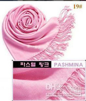 Wholesale Pashmina scarf Cashmere silk Wrap Shawl Ponchos scarves plain color MORE THAN COLORS mix colors
