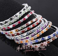 Wholesale MIC IN STOCK Colorful Spring Row Rhinestone Bracelet