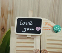 Wholesale New Fashion Cute Special Gift Small wooden clip Wooden Blackboard Clip Paper Clip board Me