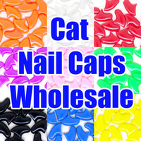 Wholesale Pet Cats Soft Nail Caps Cats Safety Claw Control Paws Cap Adhesive amp Glue protect