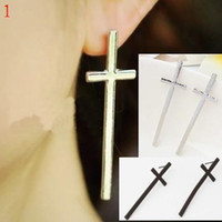 Wholesale 16 STYLE Personalized retro to exaggeration metal cross earrings fashion jewelry lo