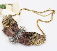 Wholesale Retro Eagle Wings Short Necklaces Personalized Fashion