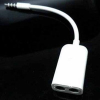 Wholesale mm Audio Y earbud splitter cable for i phone and ipods