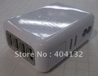 Wholesale 2012 Hot Sell Ports USB EU Wall Home AC Charger Adapter plug for iphone ipad ipod an