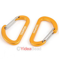 Travel Kits   Wholesale 16pcs Golden Camp Hiking Aluminum Spring Link Snap Hook Clip Hook Carabiner 160445
