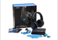 Rue sms via un casque d'oreille Avis-SMS Audio STREET par 50 sur-oreille filaire avec microphone casque noir / blanc / bleu pas Freeshipping