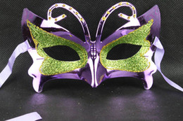 Wholesale hot sell Powder butterfly children female masquerade mask