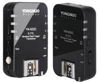 Wholesale New Yongnuo TTL Transceiver YN C Wireless E TTL Flash Trigger YN622 C For Canon EOS DSLR Speedlits