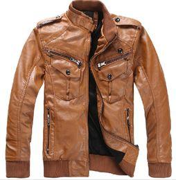 Wholesale Hot Jacket Fashion Jacket Men s Leather Jacket Coat Men s Self leather trend of the Korean Version Personality