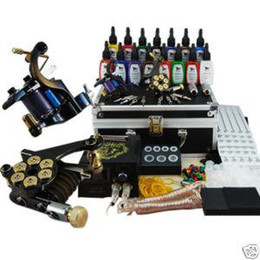 Wholesale New Tattoo Kit Equipment Inks Machines Guns Grips Needles Power Set