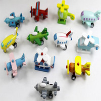 Wholesale Home Baby Toys Wood Plane Model Children Wooden Aircraft Toys Design Airplane Set