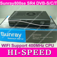 Wholesale 3pcs Sunray se SR4 with DVB S DVB C DVB T and wifi build in DHL