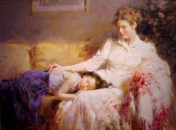 2017 Portrait Painting,Oil Painting Woman,Innocence By Pino Daeni ...