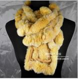 Wholesale fur scarf women s rabbit fur scarves ladies bamboo style rabbit fur warp shawl ID PW