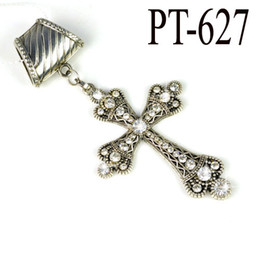 Alloy scarf Pendants Corss Charms jewelry Necklace scarf Pendants with Rhinestone Charm PT-627
