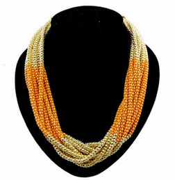 European Style Multilayer Enamel Snake Chain Heavy Necklace 6colors mix color