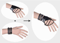 Wholesale Punk and Rock Bracelet Rivet roller chain Rock Sext Wrustket Black and White
