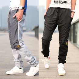 Wholesale 2012 NEW Fashion men s casual pants cotton Hit the color sport pants men trousers