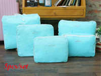 Fabric bags suits shoes - New Nylon Storage Space Bag Travel Bags For Cosmetic Clothes Shoes Suit Color V3456