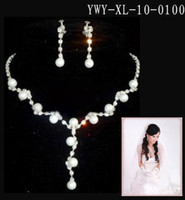 Alloy beautiful piercing - 2016new Bridal Accessories Silver Beautiful Crystal Earrings Necklace Wedding Jewelry Set Bridal Necklace Earring Set S XL100
