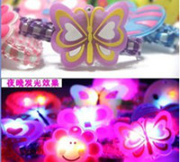Children's best girl bands - Girl LED flash light up hair band cartoon headband hair cips candy colors best atmosphere of props