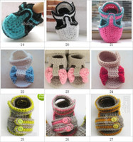 Crochet baby boy & girl shoes double sole mix design infant ...