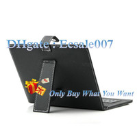 Wholesale Free Ship USB Interface Keyboard Pen Leather Case Cover Skin For Inch ePad Tablet PC