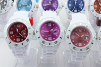 Wholesale Silicone Calendar Watches White Strap Watch dial Candy Jelly Pointer Watch Date watch mm H88
