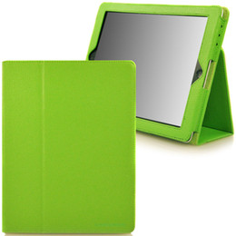 Wholesale For ipad air Pro mini Litchi Pattern Flip Leather Smart Case Cover With Stand Holder Folding Folio For air2