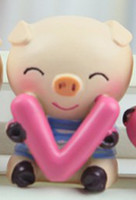 Wholesale New automotive supplies LOVE pig doll car ornaments decorations Jushi personality cute doll car acce