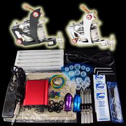Wholesale Pro Tattoo Kit Beginner Machine Gun Power Supply Foot Pedal Needle Grip Tip K03