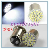 auto lamps plus - 200 X S25 BAY15D SMD Auto Car Turn Lamp Brake Tail Parking Light