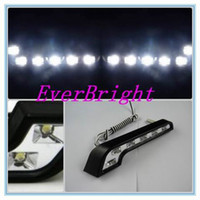 Wholesale factory direct White DRL Car Daytime Running light Super LED Fog light Man eating fish lamp bead