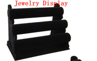 Wholesale Black Tier Velvet Watch Bracelet Jewelry Display Holder Stand Rack