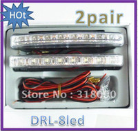 Wholesale 2 Pair X1W light super bright LED Daytime Running Light led DRL