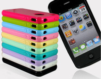 Wholesale Candy a solid color Support apple iPhone4 Phone shell and iPhone4s apple Phone sets