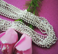 Chains Silver Plate/Fill Unisex 100pcs 925 Silver Necklace 2mm Ball Beads Chain Necklace 26inch-30inch 3 Choices