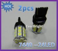 Wholesale 2 LED Car Light Backup light stop lamp Light lamp T20 Tail Turn light white
