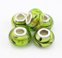 Wholesale European charms loose D baroque lampwork murano glass beads fit chain bracelet jewelry