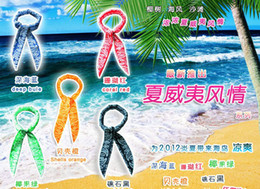 Wholesale Cool Water Band Speed to Cool Towel Cooling Scarf Ties Neck Scarves Mix Color gift ice Belt